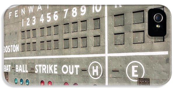 Fenway Park Scoreboard IPhone 5 Case by Susan Candelario