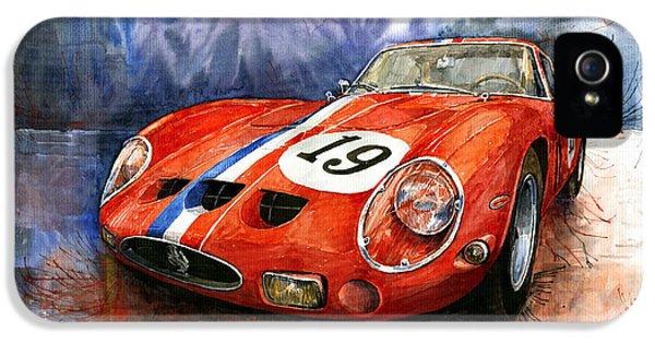 Ferrari iPhone 5 Cases - Ferrari 250 GTO 1963 iPhone 5 Case by Yuriy  Shevchuk