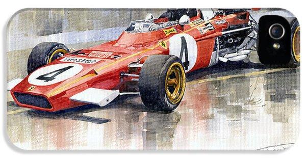 1971 Ferrari 312 B2 1971 Monaco Gp F1 Jacky Ickx IPhone 5 Case by Yuriy  Shevchuk