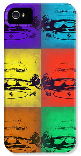 Ferrari Front Pop Art 5 IPhone 5 Case by Naxart Studio