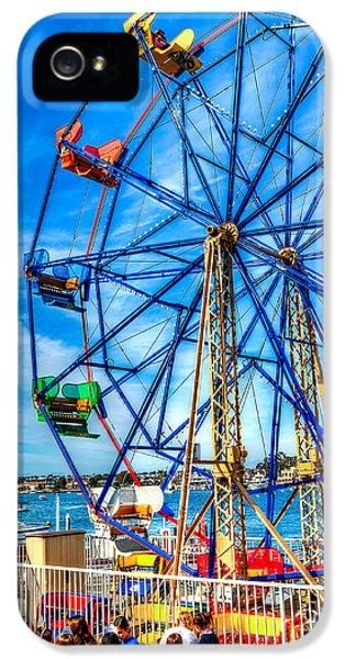 Ferris Wheel - Balboa Fun Zone IPhone 5 Case by Jim Carrell