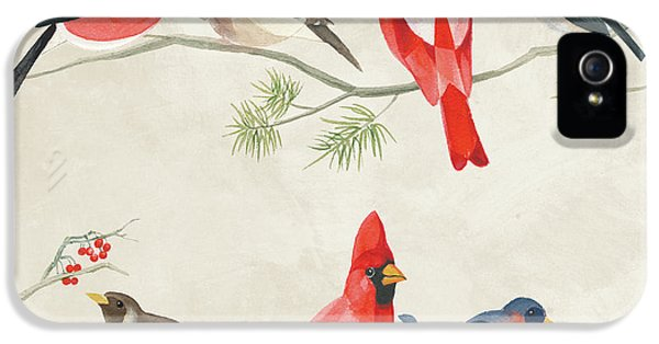 Festive Birds I IPhone 5 Case by Danhui Nai