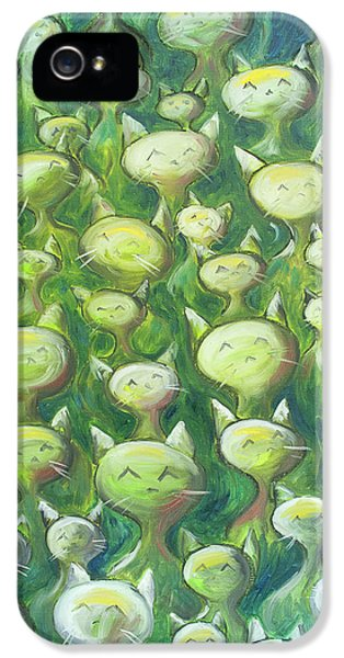 Field Of Cats IPhone 5 Case by Nik Helbig