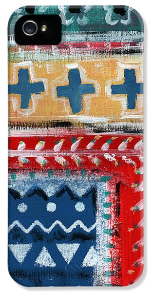 Fiesta 3- Colorful Pattern Painting IPhone 5 Case by Linda Woods