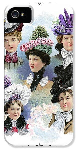 Fine Ladies Millinery Spring Collection 1900 IPhone 5 Case by Daniel Hagerman
