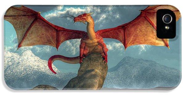 Fire Dragon IPhone 5 Case by Daniel Eskridge