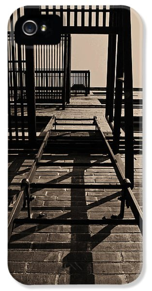 Fire Escape Sepia IPhone 5 Case by Don Spenner