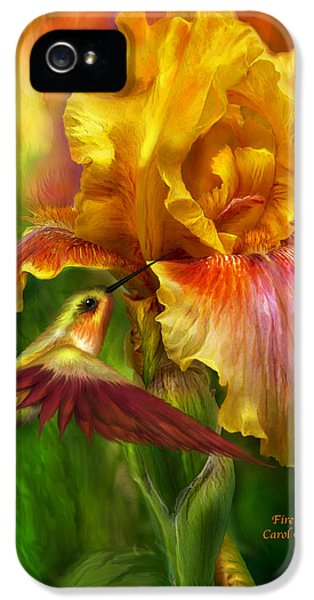 Fire Goddess IPhone 5 Case by Carol Cavalaris