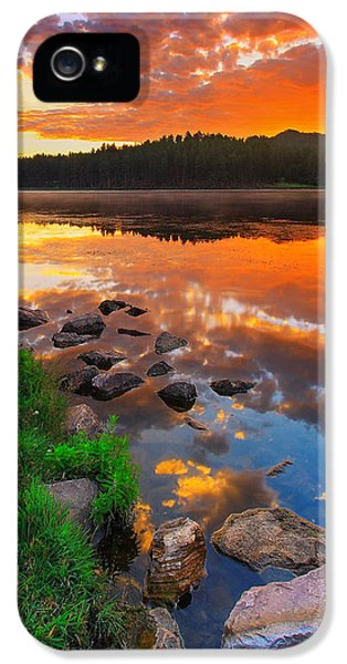 Landscape iPhone 5 Case - Fire On Water by Kadek Susanto