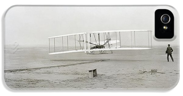 First Flight Captured On Glass Negative - 1903 IPhone 5 / 5s Case by Daniel Hagerman