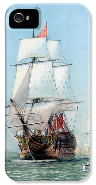 First Journey Of The Hms Victory IPhone 5 Case by War Is Hell Store