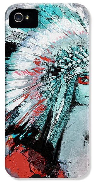 First Nations 005 C IPhone 5 Case by Corporate Art Task Force