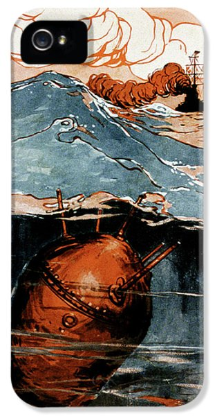 First World War Naval Mine IPhone 5 Case by Cci Archives