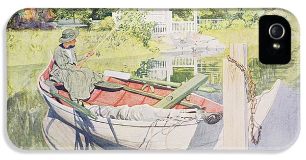 Fishing IPhone 5 Case by Carl Larsson