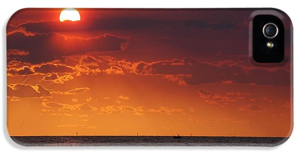 Fishing Till The Sun Goes Down IPhone 5 Case by Michael Thomas