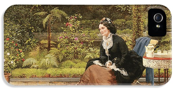 Clock iPhone 5 Case - Five Oclock by George Dunlop Leslie