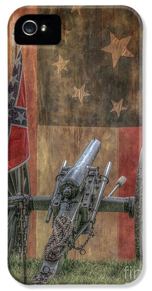 Gettysburg iPhone 5 Case - Flags Of The Confederacy by Randy Steele