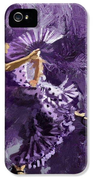 Flamenco Dancer 023 IPhone 5 Case by Catf