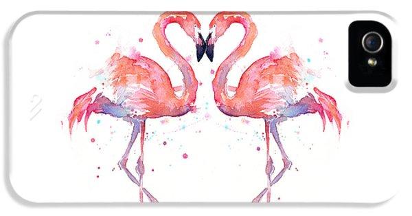 Flamingo Love Watercolor IPhone 5 Case