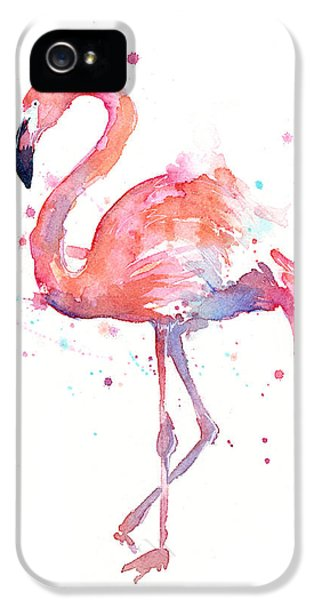 Flamingo Watercolor IPhone 5 Case