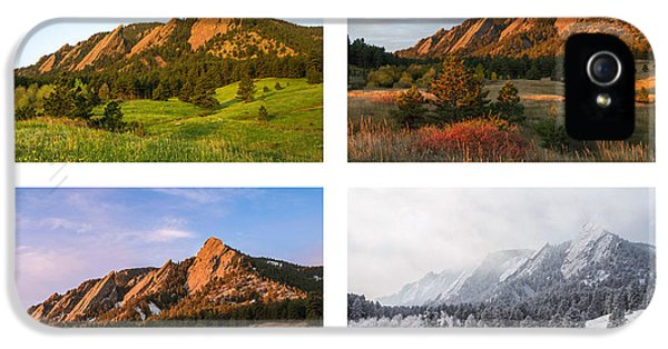 Flatirons Four Seasons With Border IPhone 5 Case