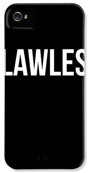 Flawless Poster IPhone 5 Case by Naxart Studio