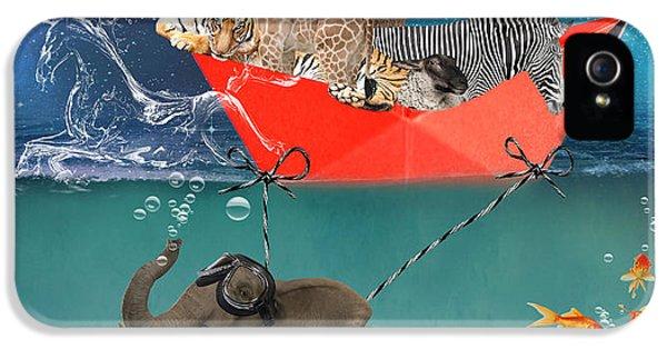Floating Zoo IPhone 5 Case by Juli Scalzi