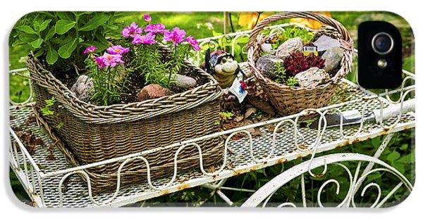 Flower Cart In Garden IPhone 5 / 5s Case by Elena Elisseeva