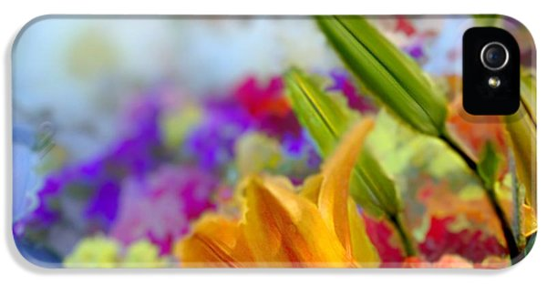 Flower Market 1 IPhone 5 Case by Terence Morrissey