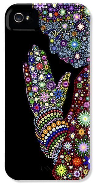 Flower Prayer Girl IPhone 5 Case
