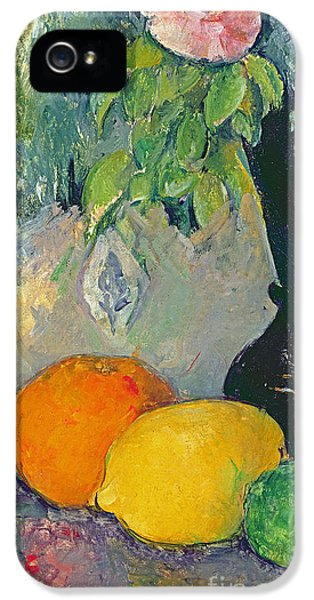 Flowers And Fruits IPhone 5 Case by Paul Cezanne