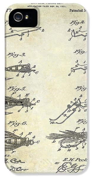 1922 Fly Fishing Lure Patent Drawing IPhone 5 Case