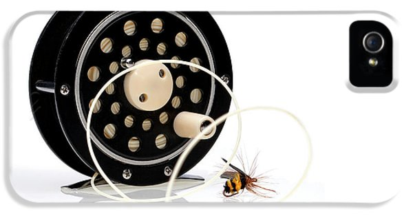 Fly Fishing Reel With Fly IPhone 5 Case by Tom Mc Nemar