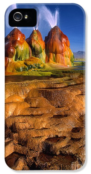Fly Geyser IPhone 5 Case by Inge Johnsson