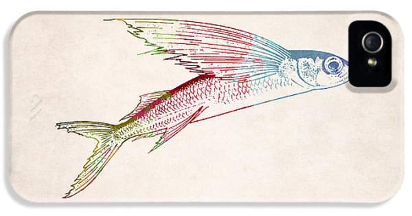 Flying Fish Illustration IPhone 5 Case by World Art Prints And Designs
