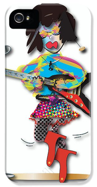 IPhone 5 Case featuring the digital art Flying V Girl by Marvin Blaine