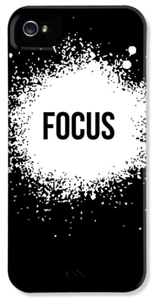 Focus Poster Black IPhone 5 Case by Naxart Studio