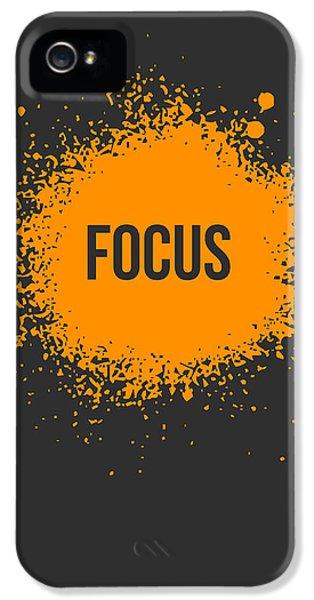 Focus Splatter Poster 3 IPhone 5 / 5s Case by Naxart Studio