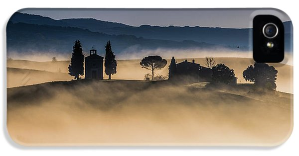 Chapel iPhone 5 Case - Foggy Dawn In Val D'orcia by Robert Debreczeni