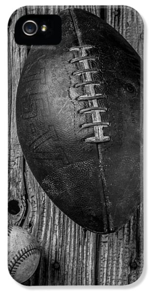 Football And Baseball IPhone 5 Case by Garry Gay