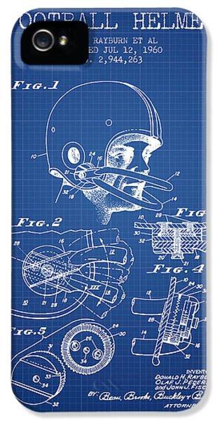 Football Helmet Patent From 1960 - Blueprint IPhone 5 Case