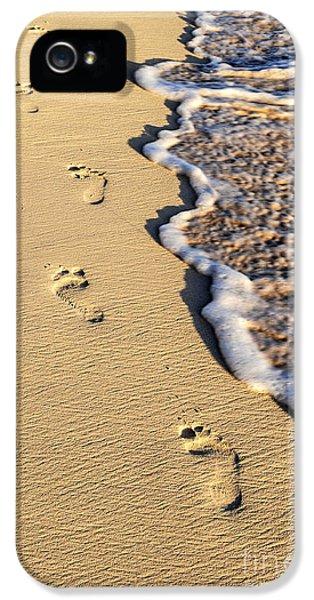 Footprints On Beach IPhone 5 Case