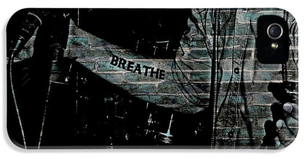 Breathe iPhone 5 Case - For Anxiety  by Chris Berry