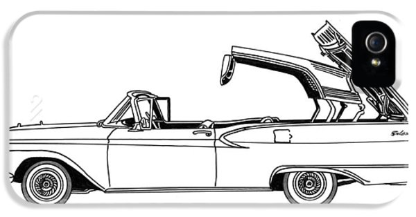 Retractable Ford Top Going Down IPhone 5 Case by Jack Pumphrey