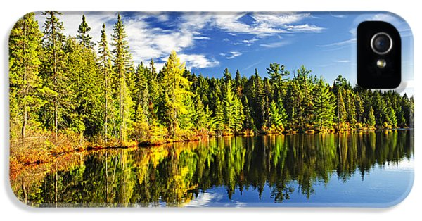 Landscapes iPhone 5 Case - Forest Reflecting In Lake by Elena Elisseeva
