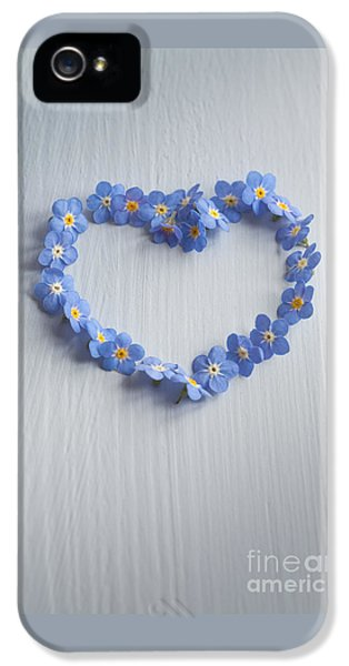 Forget Me Not Heart IPhone 5 Case by Jan Bickerton