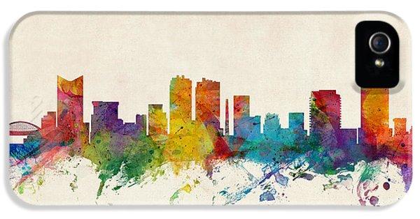Fort Worth Texas Skyline IPhone 5 Case by Michael Tompsett