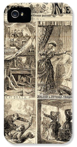Four Crime Scenes IPhone 5 Case by British Library