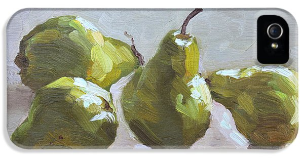 Pear iPhone 5 Case - Four Pears by Ylli Haruni
