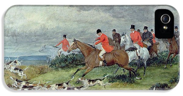 Fox Hunting In Surrey IPhone 5 Case by Randolph